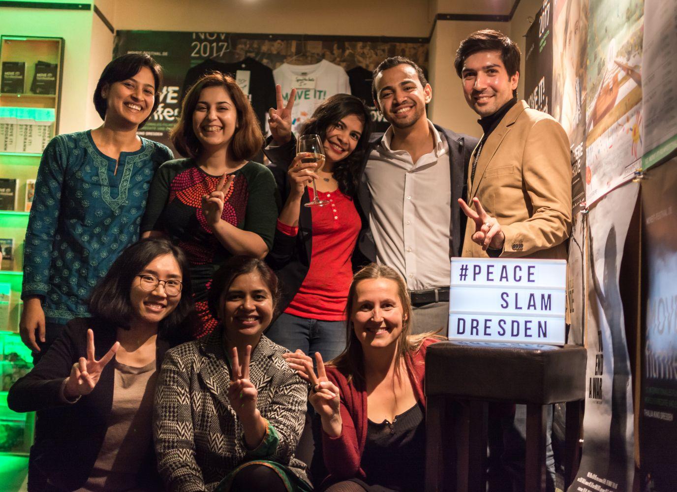 Mic4Peace beim internationalen Peace Slam am 15.11.2017 im Thalia Kino Dresden